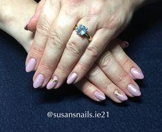 Gel nails- light purple shimmer