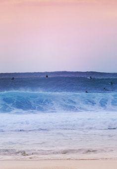 Big waves surfing