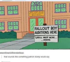 Fall Out Boy, it does