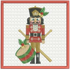 Nutcracker Joy Mug Mat - Pixies Rule! Christmas Pillow, Christmas Ornaments, Vintage Designs, Machine Embroidery, Art Pieces, Projects To Try, Joy, Mugs, Create