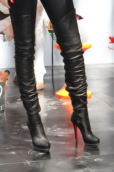 Oh wow! I'm surprised I like these. one day I will be owning and walking down the street.only $115.25 #Christian #Louboutin #Boots