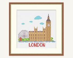 Cross stitch City  Embroidery London  London от PatternStitchShop