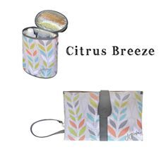 JJ COLE CITRUS BREEZE!!! New print available at Cravings!! Bottle Cooler and Change Clutch Available!