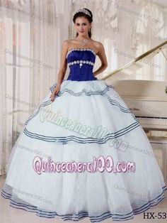 Nice royal blue and white sweet 16 dresses 2018/2019 Check more at http://myclothestrend.com/dresses-review/royal-blue-and-white-sweet-16-dresses-20182019/