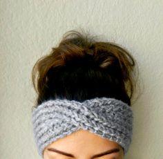 Turban Ear Warmer Headband Knit Boho Ear Warmer $24.95 by TheSnugglery