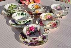 cake stand heaven: VINTAGE AND NEW CHINA MISMATCHED TEA SETS