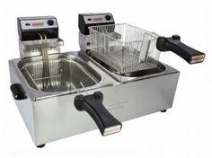 Fritadeira Elétrica 5L Inox Profissional - Cotherm Duas Cubas