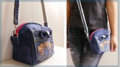 DIY Mini Crossbody Bag from Old Jeans - YouTube