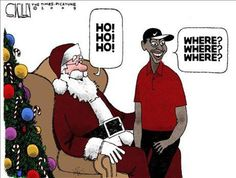 Tiger Woods and Santa Claus Funny Merry Christmas Memes, Funny Christmas Pictures, Christmas Jokes, Funny Pictures, Funny Pics, Silly Photos, Christmas Images, Merry Xmas, Tiger Woods