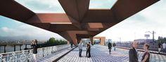Balanzategui + Loisier > Intervenciones en el espacio público, Bahía de Txingudi. I _ architecture perspective render