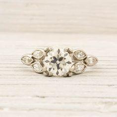 .78 Carat Old European Cut Diamond Engagement Ring <3