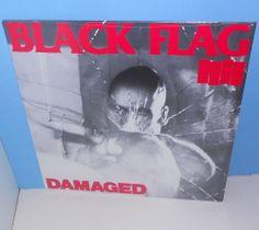 BLACK FLAG damaged LP Record