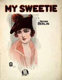 My Sweetie. Vintage sheet music.