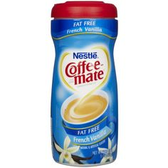 Coffee-mate Fat Free Powdered Coffee Creamer, French Vanilla-15 oz ($5.40) ❤ liked on Polyvore featuring home, kitchen & dining, serveware, french vanilla coffee creamer, coffee creamer and french vanilla creamer