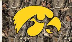 Iowa Hawkeyes Flag 3x5 Realtree Camo Flag Z157-1588995424