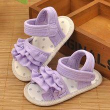 Lovely Fashion Crianças Verão Sandálias de Tecido de Algodão Crianças Berço Sapatos Baixos Causais Para O Bebê Do Miúdo Crianças Roupas e Acessórios(China (Mainland))