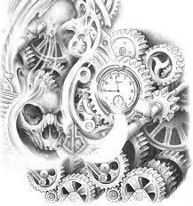Imagini pentru tattoo skizzen biomechanik