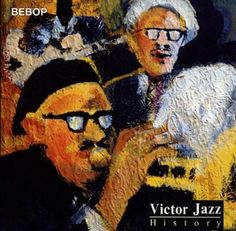 1997 Victor Jazz History Vol.11: Be Bop [RCA 74321357302] cover painting by Alice Choné #albumcover
