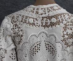1905 linen and Irish crochet lace dress.