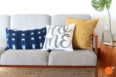 Using words in your home decor is a huge trend right now! That's why you'll love these modern pillow cases from pickyouplum.com! At only $5.99 they make a big statement for a little price. Pick your favorite design!
