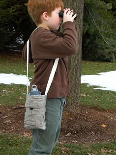 handy water bottle sling from a pair of outgrown cargo pants