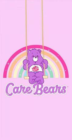 Bear Wallpaper, Iphone Background Wallpaper, Kawaii Wallpaper, Pastel Wallpaper, Aesthetic Iphone Wallpaper, Care Bears, Wallpaper Collection, Care Bear Party, Disney Phone Wallpaper