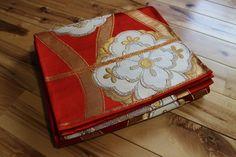 Obi,  Vintage Japanese Silk Fukuro Obi, Great as a Table Runner, Valance, or…
