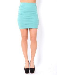 ligth blue Cotton skirt