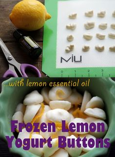 Lemony Frozen Yogurt Buttons ~ with doTERRA Lemon Essential Oil