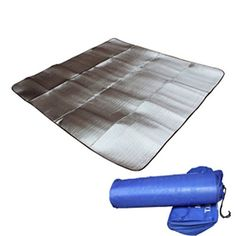 outdoor aluminum foil across the cool pad meal mat crawling on the bed padCovered camping sleeping pad * Be sure to check out this awesome product.