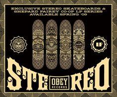 Obey x Stereo Skateboard decks - mashKULTURE