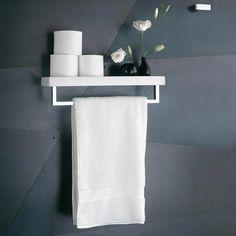Fantini collezione accessori Linea porta salviette con mensola.