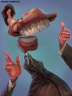 Silvio Santos é homenageado por caricaturistas em exposição itinerante