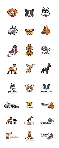 This project is for all the dog lovers out there. I illustrated a series of dog breeds. Enjoy! #dog #dogs #puppy #puppies #beagle #husky #chihuahua #illustration #logo #design #vector #mark #kreatank #brand #identity