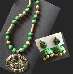 Elegant Terracotta Necklace :: Indo Roots Visit: www.indoroots.com