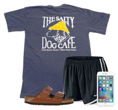 """""""Watching the HotDog Eating Championship"""" by flroasburn ❤ liked on Polyvore featuring NIKE and Birkenstock"""