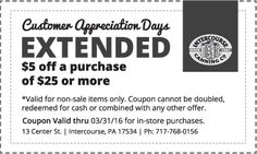 $5 coupon for our Customer Appreciation Days... Valid for the rest of the month! Click to download and print. For online orders, use the code: THANKYOU at checkout.