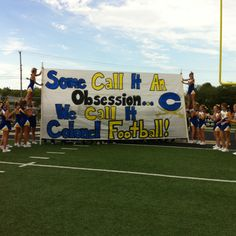 Some Ideas for Football Banners . 41 Awesome some Ideas for Football Banners . Senior Night Run Through Cheer Ideas Football Spirit, Cheer Spirit, Football Signs, Football Cheer, Bulldogs Football, Cheer Camp, Cheer Coaches, Football And Basketball, School Football