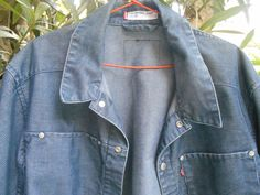Vintage Men's Blue Velvet Jacket by Levis