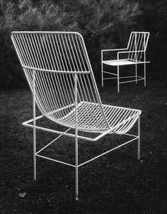 White wire chairs, photo by Josef Sudek