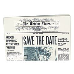 Brides: Bonnie and Clyde Wedding Style Inspiration - save the date = newspaper headline!