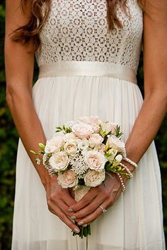 bouquet. Forever 21 dress.  @Robyn Tate - what if we had something like this in purple?
