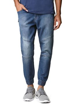 Bullhead comes with a casual pair of men's jogger pants found at PacSun. TheDillon Skinny Sweat Jean Moto Jogger Pants for men have a denim blue look, Bullhead patch sewn above the back pocket, and traditional five pocket design.Blue jogger pantsBullheadpatch sewn on waistTraditional five pocket designButton/ drawstring waist, zip flySkinnyfitMachine washable93% cotton, 6% polyester, 1% spandexImported