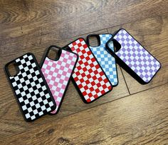 iphone cases available in a variety of checkered colours! For all iPhone models! Iphone Cases Bling, Pretty Iphone Cases, Art Phone Cases, Diy Phone Case, Iphone 11 Pro Case, Iphone Case Covers, Iphone 4s, Apple Iphone, Wildflower Phone Cases