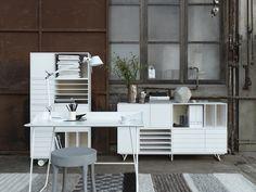 Storage system (No. 5) from Swedish furniture manufacturer Voice. Designer Jesper Stahl. Via emmas designblog. Thanks @kokii for pinning.