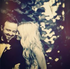 Aaron and Lauren Paul. | 36 Beautiful Celebrity Wedding Photos That'll Make You Want To Get Married Immediately