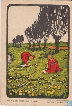 Ansichtkaarten - Amsterdam - Voor het kind-Als de mei weer is in 't land