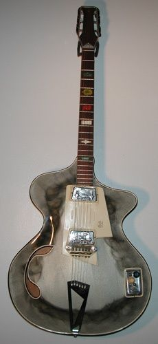 1960s Wandre Waid guitar with candle smoke finish.