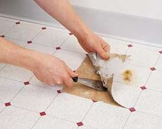 How to remove vinyl tiles. Check out this tutorial into removing old vinyl  tiles quickly! Vinyl flooring tips and