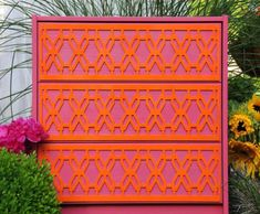 O'verlays by Danika Cherlye are geometric appliques that you can place just about anywhere from tables, drawer fronts, and cabinets to mirrors and even windows… the possibilities are endless. I think this is a great way to customize plain IKEA furniture (they come in special sizes to fit popular IKEA piece) or something you find at a garage sale that needs a little pizazz. Yes, pizazz.